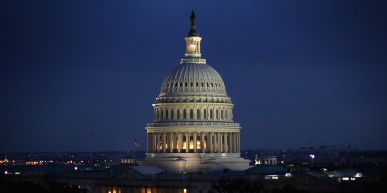 WASHINGTON, DC - JUNE 10:  The U.S. Capitol building is seen on the evening of June 10, 2014 in Washington, DC.  (Photo by Alex Wong/Getty Images)